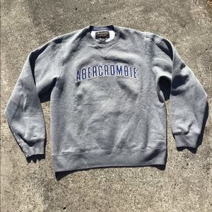 Vintage Abercrombie & Fitch grey & Blue crew neck